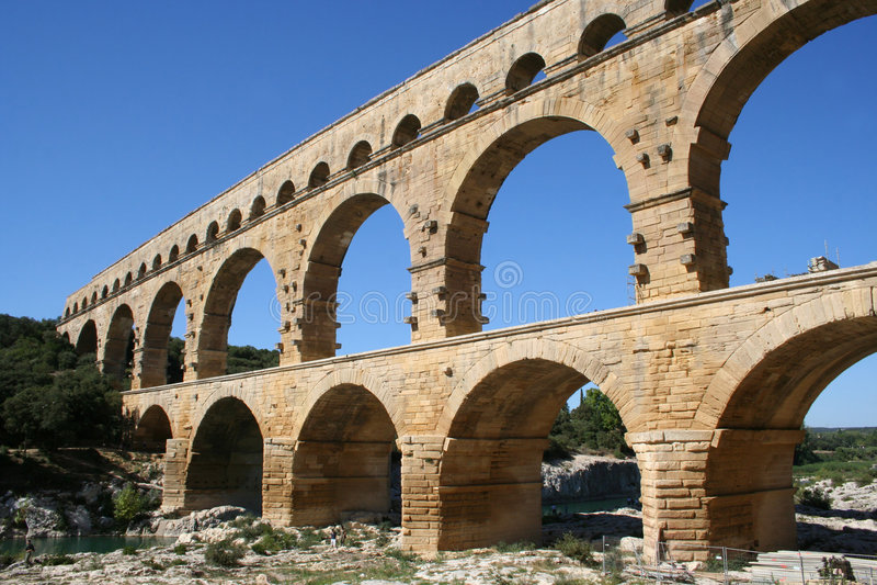 Pont DU Gard Frankreich lizenzfreies stockfoto