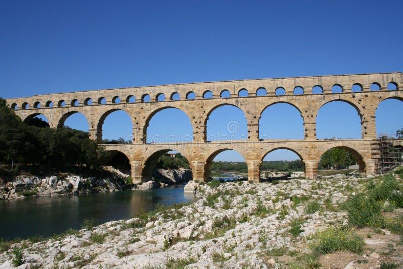 Pont DU Gard Frankreich stockbild