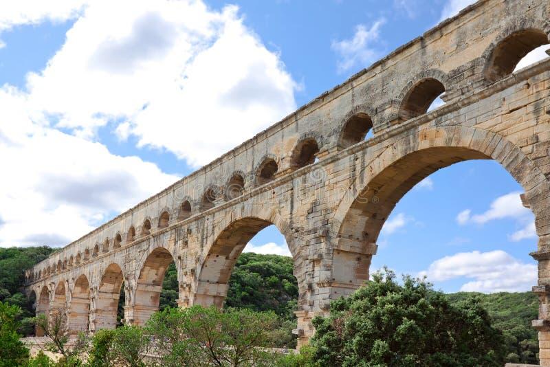 Pont du Gard - Frankrike arkivfoto
