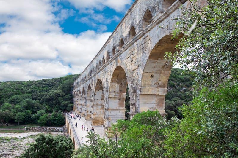 Pont du Gard. Nimes. fotografía de archivo