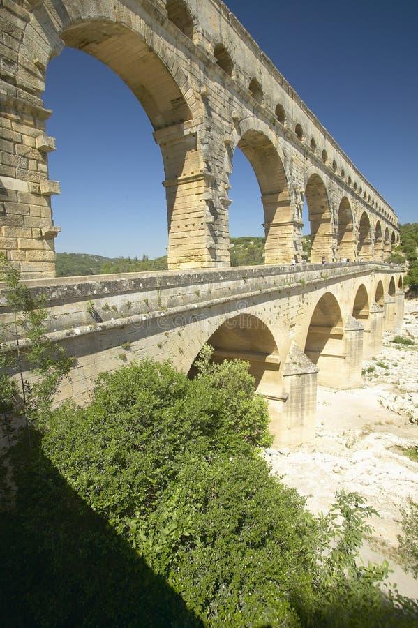 Pont du Gard, Nimes, Francja obrazy stock