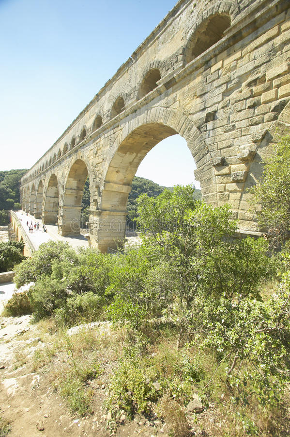 Pont du Gard, Nimes, Francja fotografia royalty free