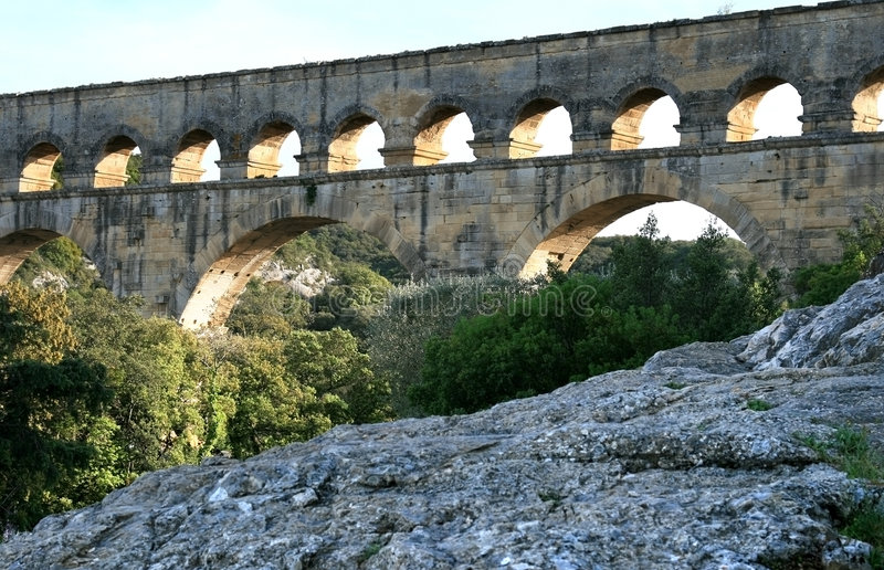Download Pont Du Gard, A Roman Aqueduct In France Stock Photo - Image: 8296134
