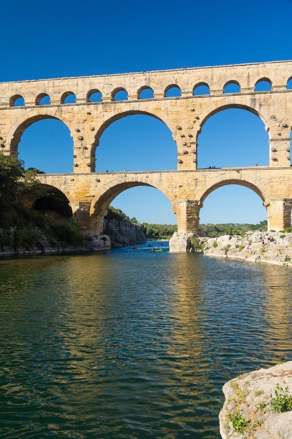 Pont du il Gard immagini stock libere da diritti