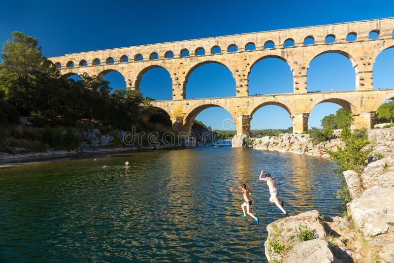 Pont du il Gard fotografia stock libera da diritti