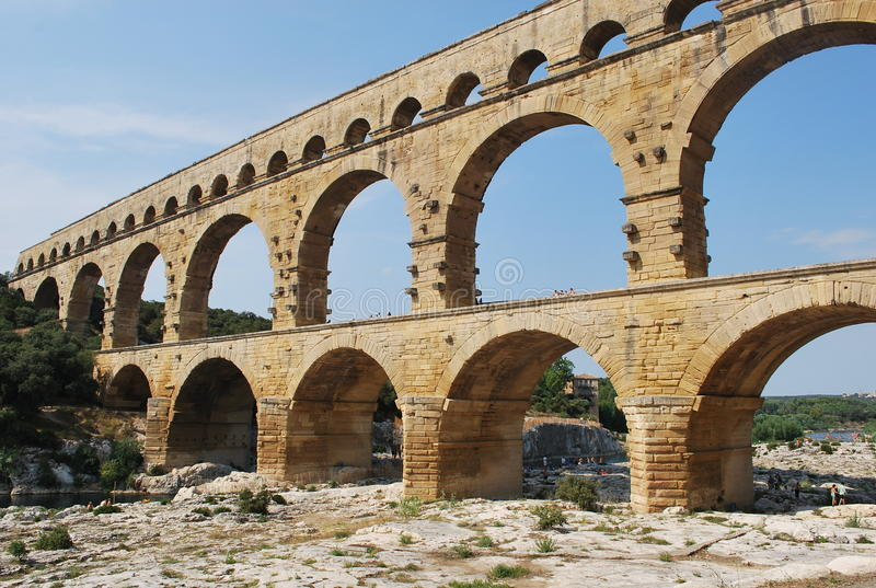 Pont du il Gard immagini stock