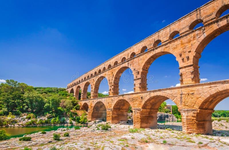 Pont du il Gard, Provenza in Francia fotografie stock libere da diritti