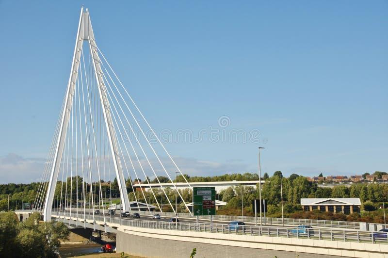 Pont du nord de flèche du ` s de Sunderland photographie stock libre de droits