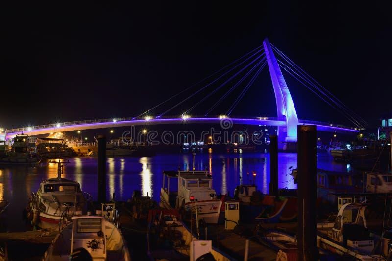 Pont du ` s d'amant dans Tamsui, nouveau Taïpeh, Taïwan image stock