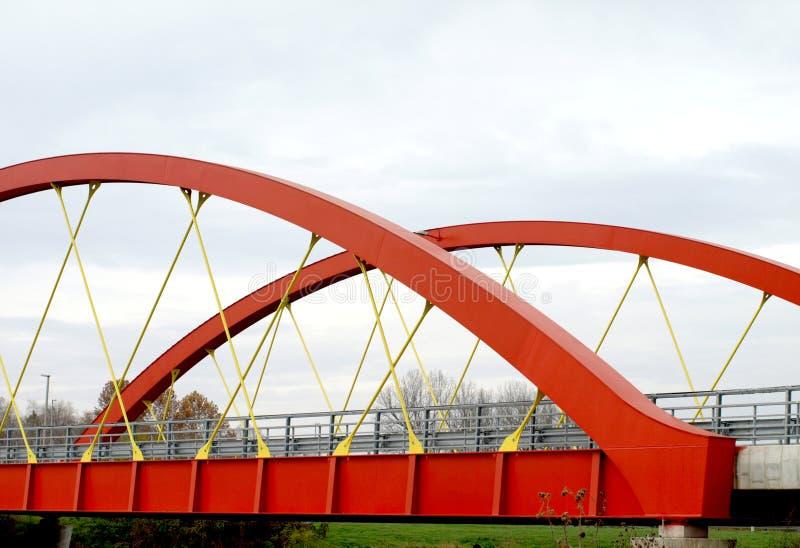 Pont en acier en route photographie stock libre de droits