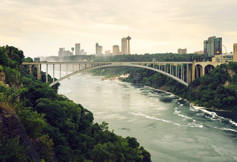 Pont en arc-en-ciel, gorge de chutes du Niagara images libres de droits
