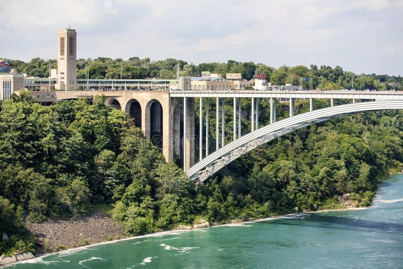 Pont en arc-en-ciel de Niagara Falls images libres de droits