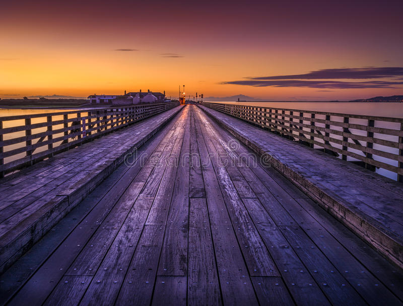 Pont en bois image libre de droits