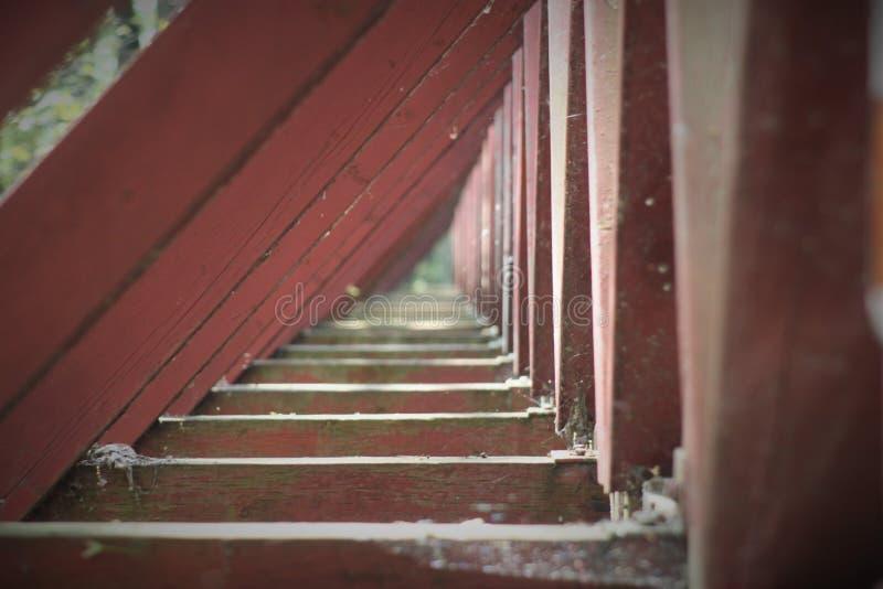 Pont en bois image stock