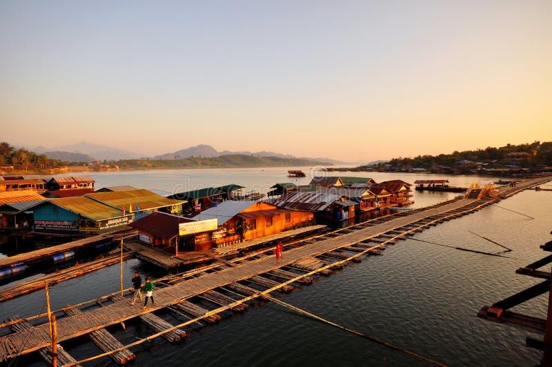 Pont en bois célèbre de lundi photos libres de droits