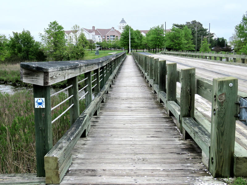 Pont en bois 2016 de Cambridge le Maryland photo libre de droits
