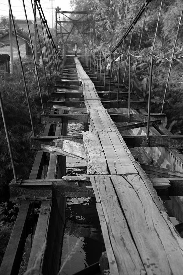 Pont en bois de vintage images libres de droits