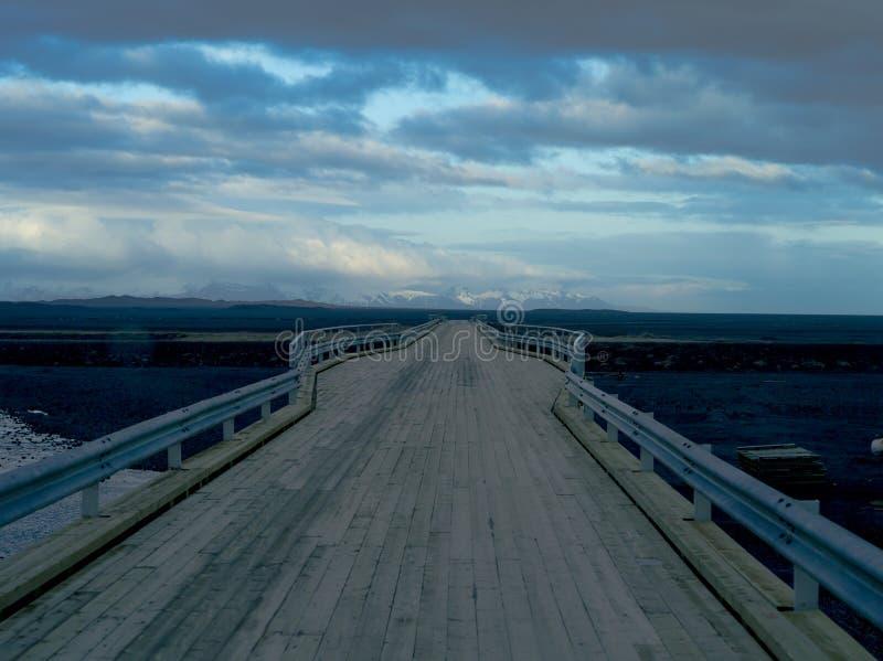 Pont en bois, Islande photo stock