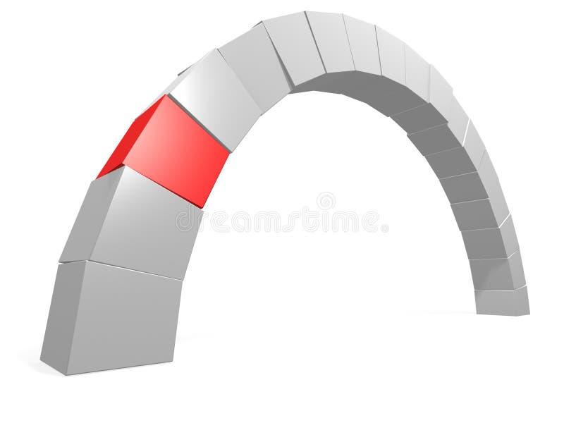 Pont en cadre illustration de vecteur