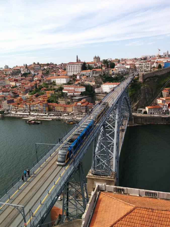 Pont en fer de Porto photos stock