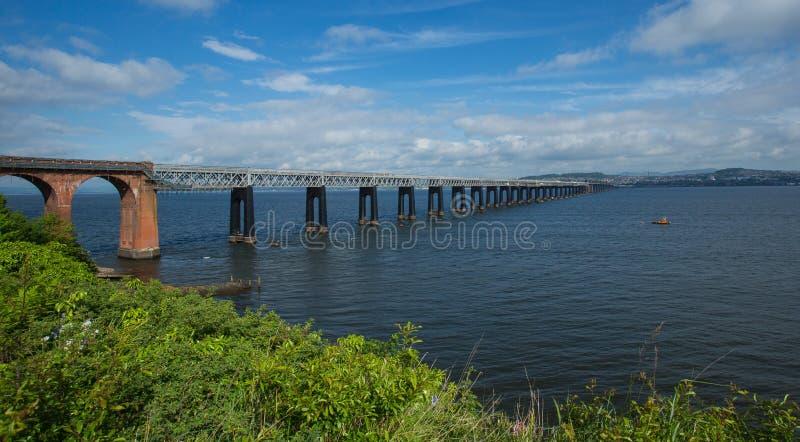 Pont en longeron de Tay, Dundee photographie stock libre de droits