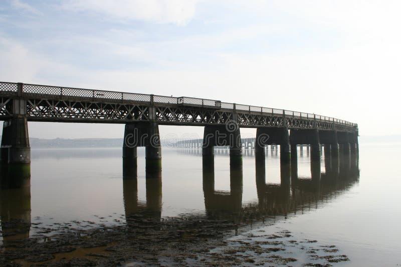 Pont en longeron de Tay, Dundee photo libre de droits