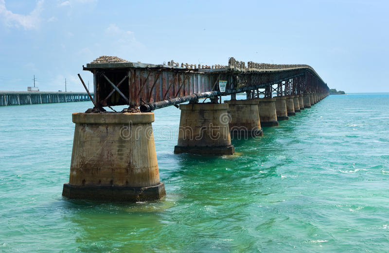 Pont en longeron du Bahia Honda photo stock