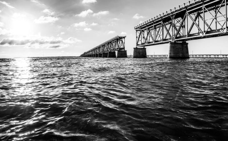 Pont en longeron du Bahia Honda photo libre de droits