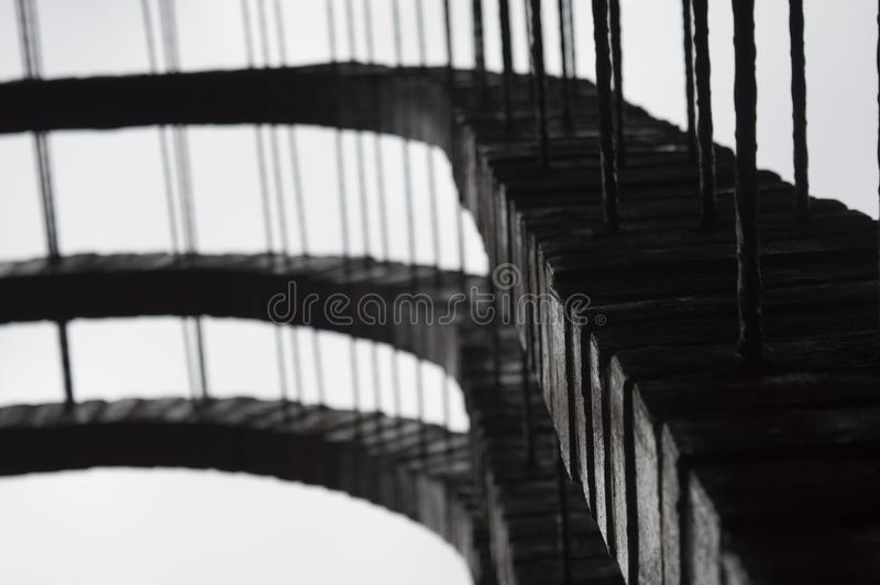 Pont en lune photographie stock libre de droits