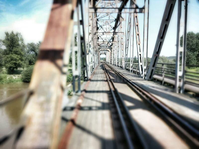 Pont en métal photographie stock libre de droits