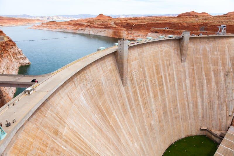 Pont en page de forme de vue de barrage de vol plané photos stock
