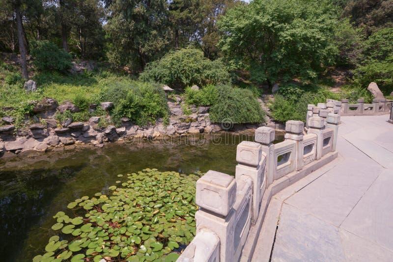 Download Pont En Parc Pékin Chine De Beihei Photo stock - Image du passerelle, ming: 76085972