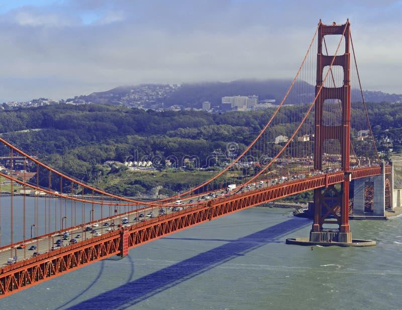 Pont en porte d'or à San Francisco, la Californie image libre de droits