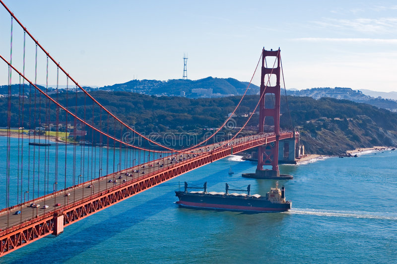 Pont en porte d'or de San Francisco image stock