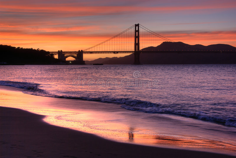 Pont en porte d'or, San Franci photo stock