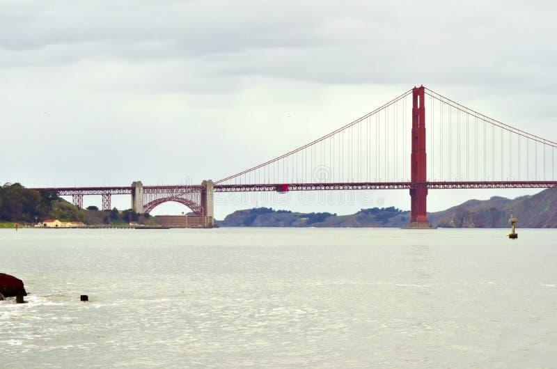 Pont en porte d'or, San Francisco, la Californie photographie stock libre de droits
