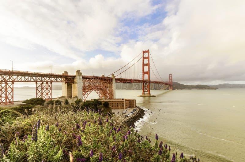 Pont en porte d'or, San Francisco, la Californie photos libres de droits
