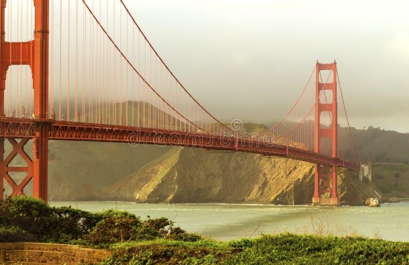 Pont en porte d'or, San Francisco, la Californie image libre de droits