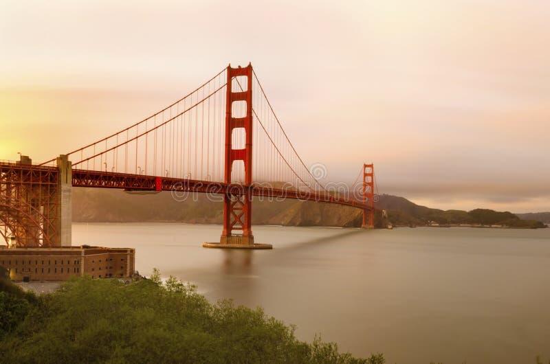 Pont en porte d'or, San Francisco, la Californie images stock
