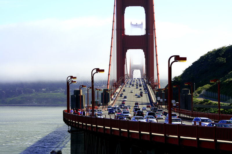 Pont en porte d'or, SF images stock
