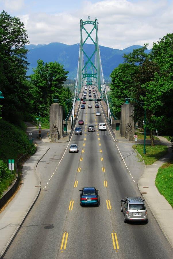 Pont en porte de lions à Vancouver photos stock