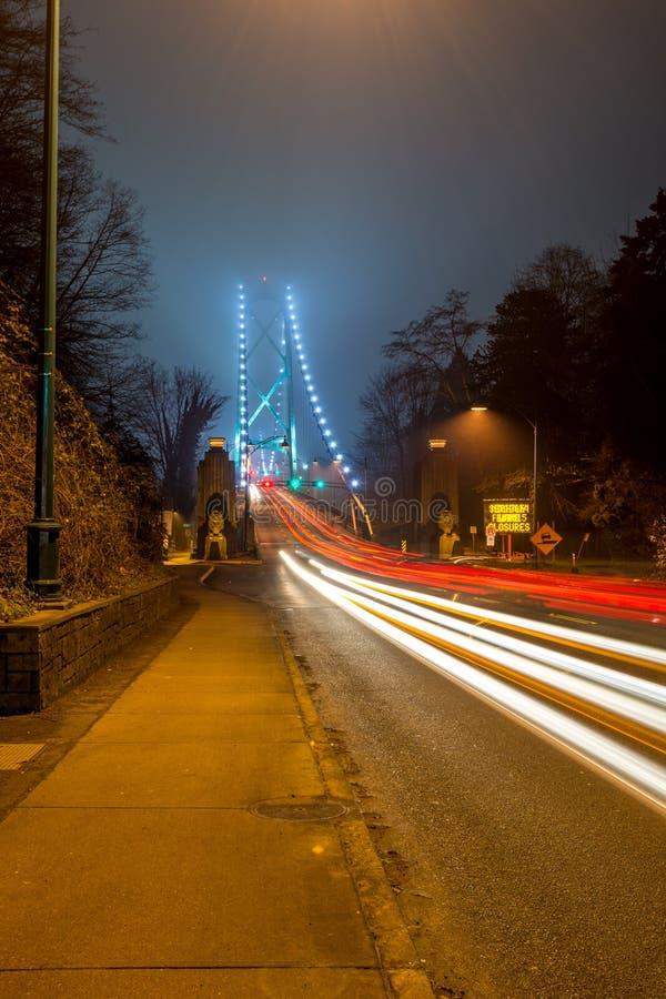 Pont en porte de lions à Vancouver photographie stock libre de droits