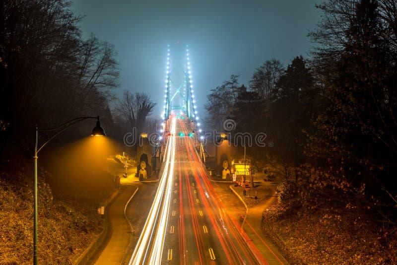 Pont en porte de lions à Vancouver photo stock