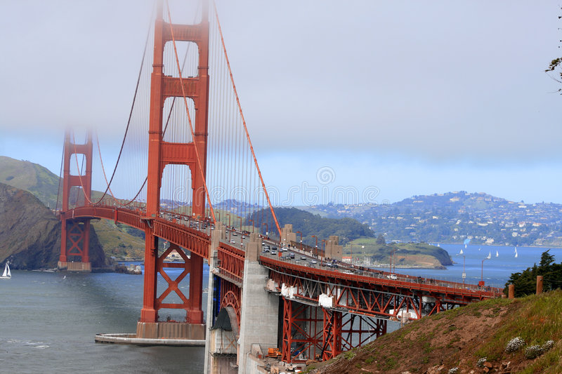 Pont en porte de SF.Golden photo stock