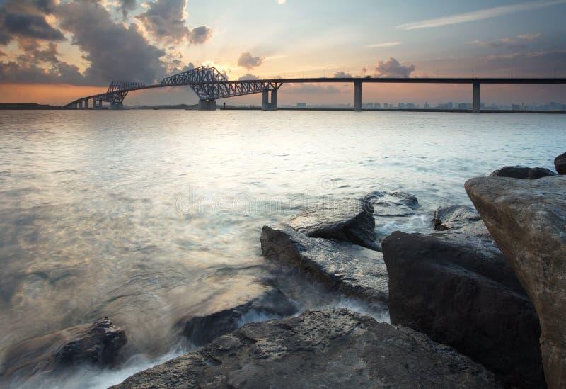 Pont en porte de Tokyo photo stock