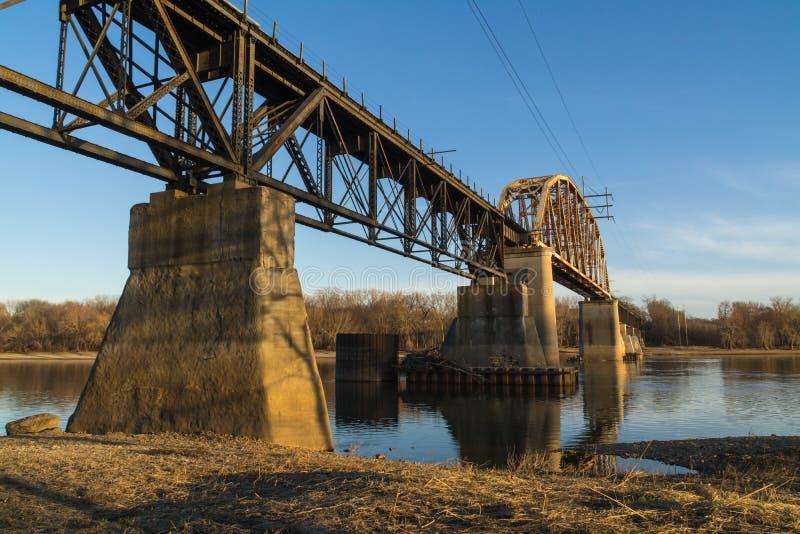 Pont en rail de LaSalle photos stock