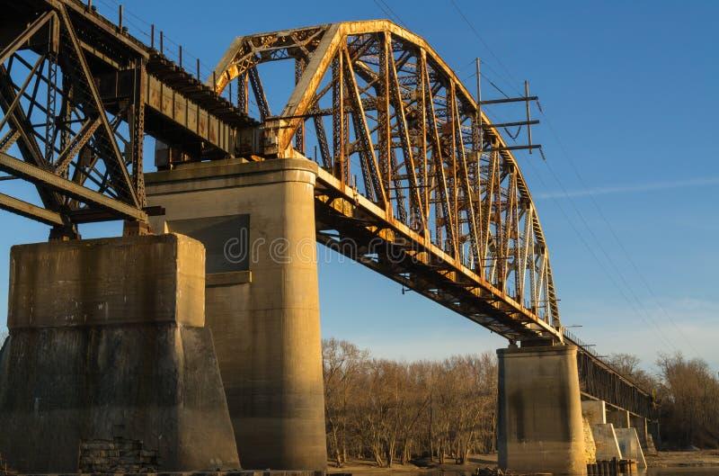 Pont en rail de LaSalle images stock