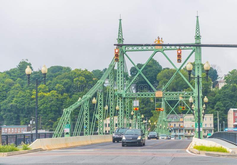 Pont en rue de Northampton, Easton Pennsylvania photographie stock libre de droits