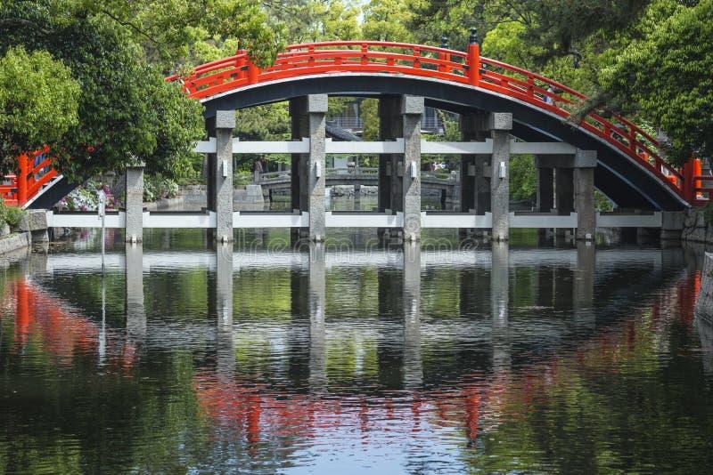 Pont en tambour à Osaka images libres de droits