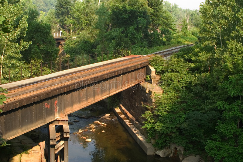 Pont En Train Horizontal Photos stock
